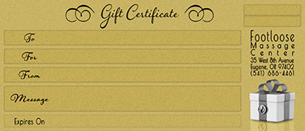 Massage Gift Certificate Sample Image